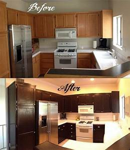 How to gel stain your kitchen cabinets stained cabinets for Gel staining kitchen cabinets