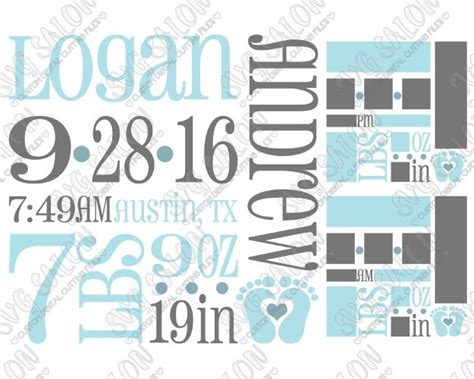 Customize birth announcement svg template birth stats   etsy. 83 best DIY Vinyl Signs and Printable Clipart images on ...