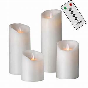 Sompex Led Kerzen : sompex flame echtwachs led kerze fernbedienbar wei in verschiedenen gr en sompex shop ~ Orissabook.com Haus und Dekorationen