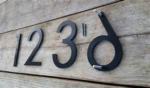 Beautiful lighted house numbers for 8 illuminated house for Black metal house letters