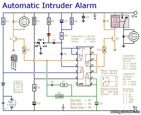 Home Security System Wiring Diagram by Schematic Diagram Electronic Circuit Electronics
