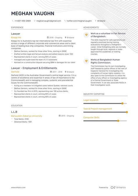lawyer resume    enhancvcom