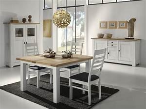 Salle a manger whitney chene massif fabrication francaise for Meuble de salle a manger avec table salle a manger blanche et grise