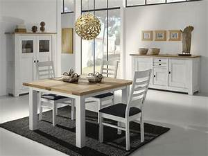 salle a manger whitney chene massif fabrication francaise With meuble de salle a manger avec salon salle a manger contemporain
