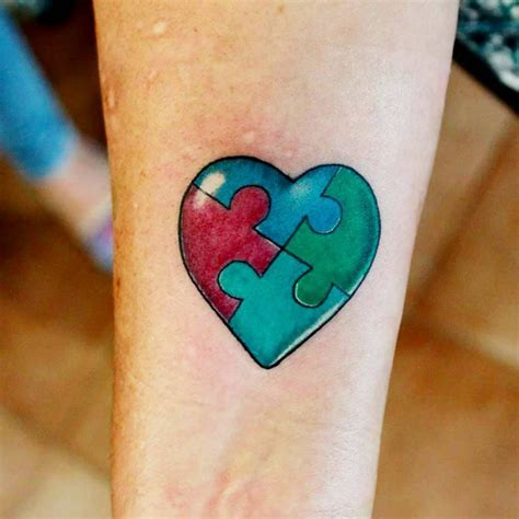 small puzzle pieces tattoo  wrist
