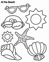 Coloring Pages Summer Landscape Beach Tropical sketch template