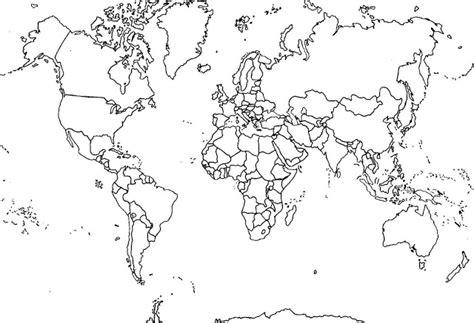 Carte Du Monde à Imprimer A3 by World Maps Coloring Pages