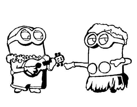 Kleurplaat Minion Ukelele by 56 Dibujos De Minions Para Descargar Gratis Imprimir Y