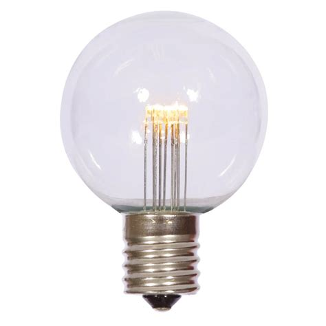 g50 led warm white transparent replacement bulb with e17