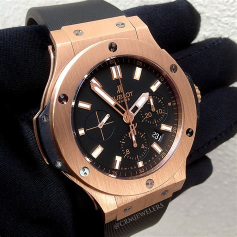 Hublot Bigbang Black Brown hublot big gold black crm jewelers miami fl