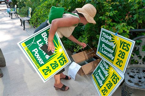 recycle  campaign lawn signs