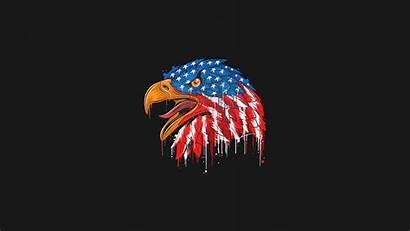 4k Flag American Eagle Minimal Wallpapers Usa