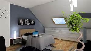 Chambre Sous Les Combles : 3d chambre sous comble ~ Melissatoandfro.com Idées de Décoration
