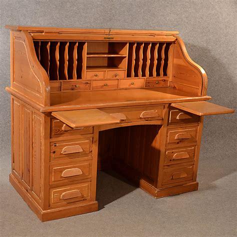 top bureau antique rolltop bureau pine roll top tambour desk