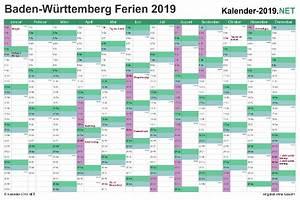 Jahreskalender 2019 A4 : ferien baden w rttemberg 2019 ferienkalender bersicht ~ Kayakingforconservation.com Haus und Dekorationen