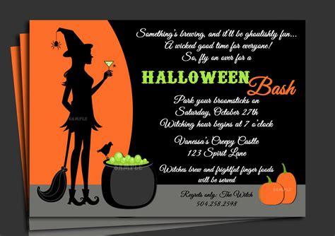 Crazy Creative Halloween Party Invitation Wording Ide