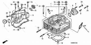 Honda Atv 2007 Oem Parts Diagram For Cylinder Head