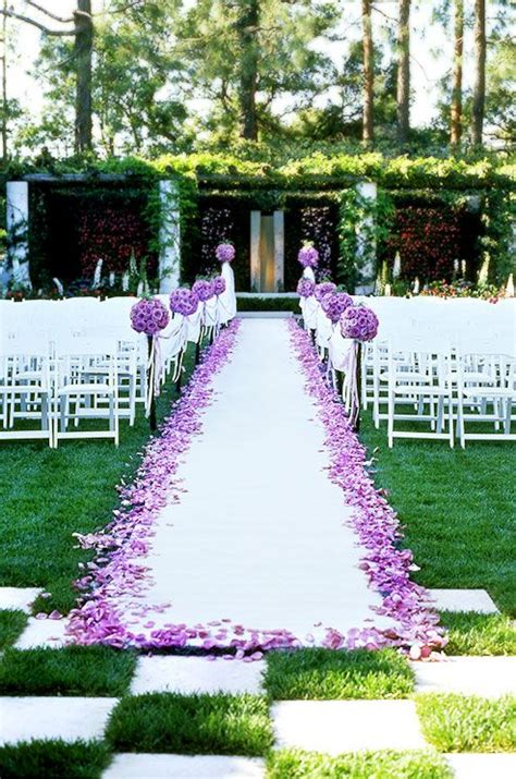 flower petals for wedding purple wedding ceremony entrance purple wedding