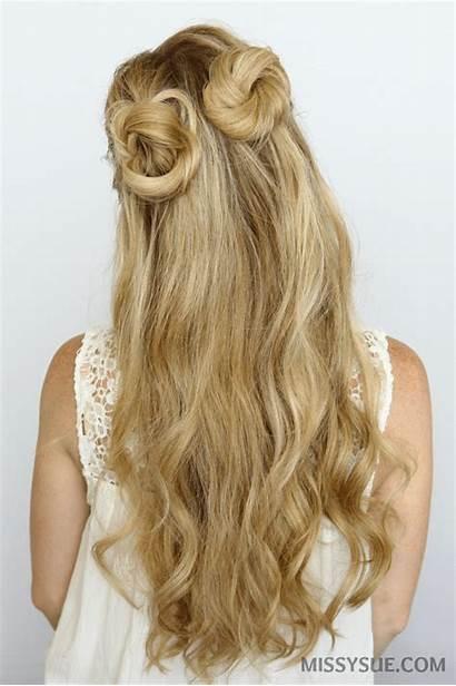 Buns Bun Half Double Hair Hairstyles Tutorial