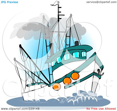Commercial Fishing Boat Clip Art by Commercial Fishing Boat Drawing Clipart Panda Free