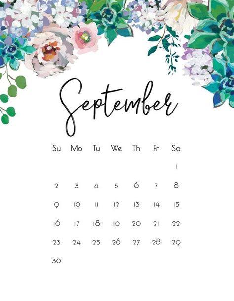floral september  wall calendar kalendar dlya pechati