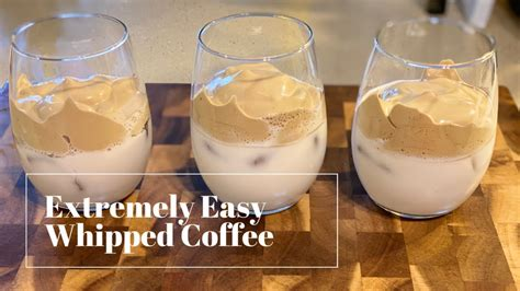 Dalgona coffee is a beverage made by whipping equal proportions of instant coffee powder, sugar, and hot water until it becomes creamy and then adding it to cold or hot milk. Extremely Easy Whipped Coffee | Dalgona Coffee | Only 4 Ingredients! - YouTube