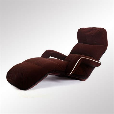 chaise de inclinable floor folding adjsutable chaise lounge with armrest living