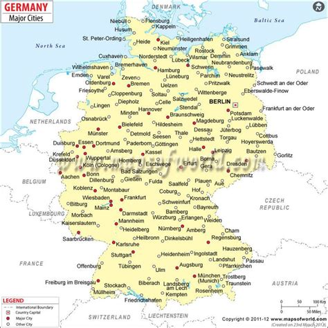 map  german cities google search maps pinterest