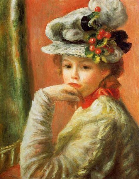 Jeune Fille Dans Un Blanc Chapeau 1891 De Pierre Auguste