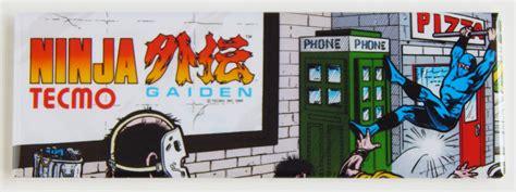 Tecmo Ninja Gaiden Arcade Marquee Refrigerator Fridge