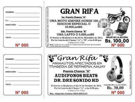 talonarios de rifa 1000 numeros otros a vef 450 en preciolandia rifas boletos de rifa