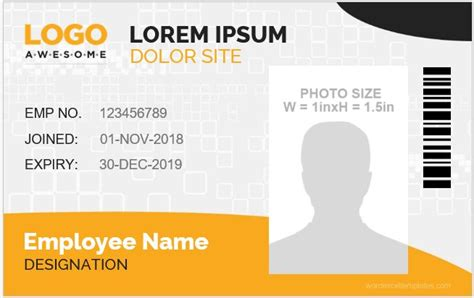 ms word company id card templates word excel templates