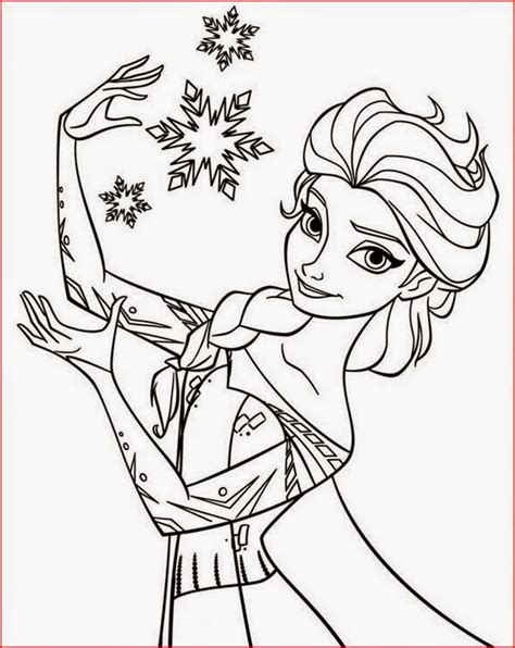 Coloring Elsa by Coloring Pages Elsa From Frozen Free Printable Coloring Pages