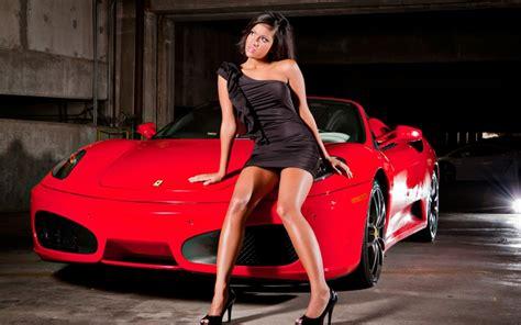 women dark cars ferrari red cars  wallpaper