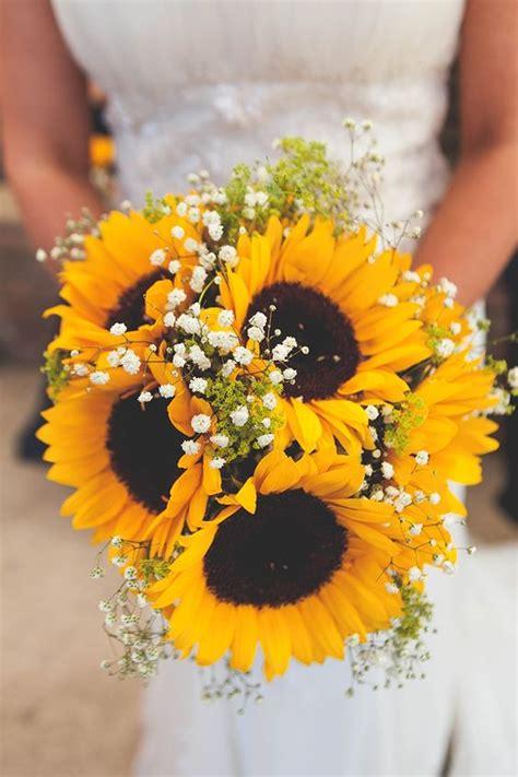 perfect sunflower wedding bouquet ideas  summer wedding