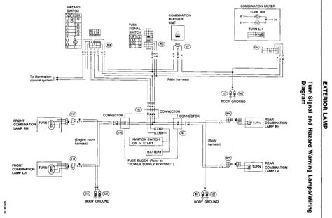 300zx Turn Light Wiring Diagram by Of My 1993 300zx Only Has Turn Signal Lights In The Rear