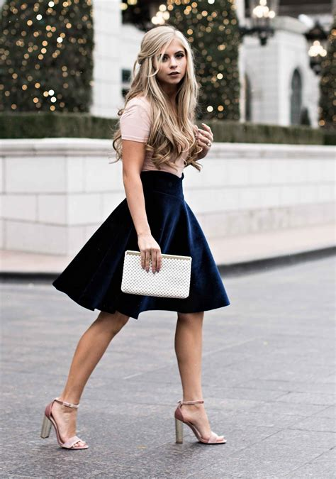 Velvet Skater Skirt Fashion Fashion Womens Fashion