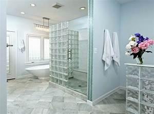 Cloison Brique De Verre : briques de verre salle de bain moderne cloisons de ~ Dailycaller-alerts.com Idées de Décoration