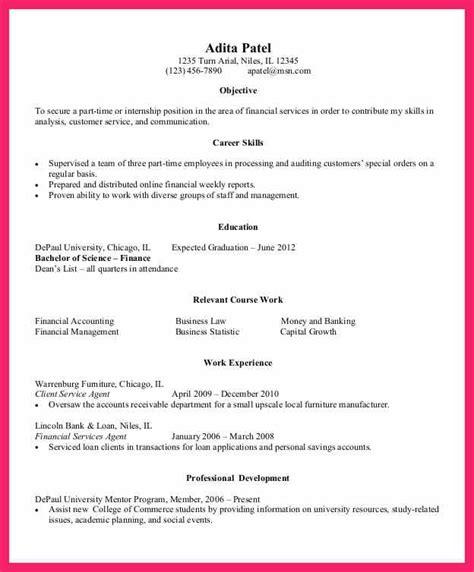 entry level resume exles bio letter format