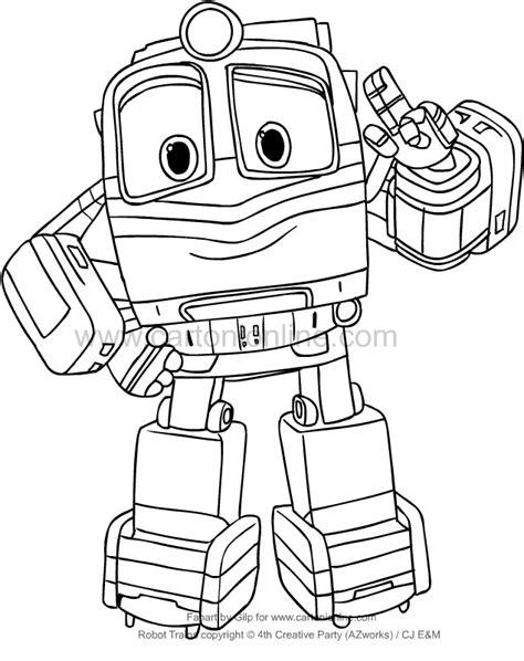 disegni di robot da colorare disegno di alf di robot trains da colorare