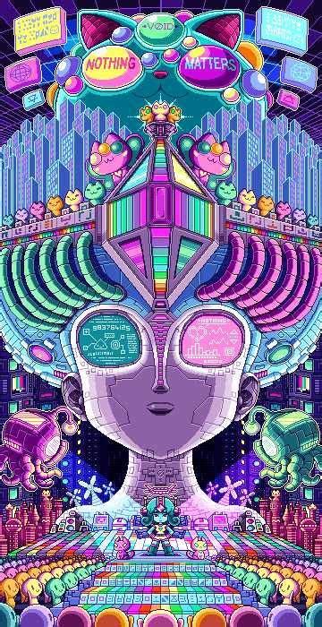 Paul Robertson Art Dump Imgur Digital Art Anime Psychedelic Art Pixel Art