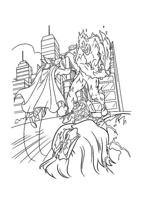 dessins de coloriage thor marvel  imprimer