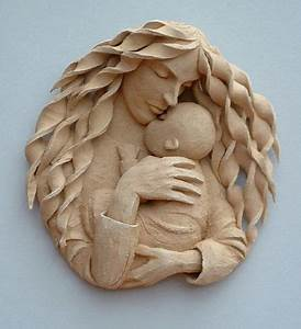 Mother and Child, sculpture in clay by Simon Conolly ...