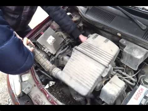 fiat punto  air filter sound youtube