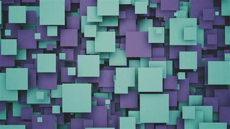 wallpaper tiles squares cubes purple cyan