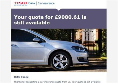Essex Driver Left Stunned After Tesco Insurance Quote Was