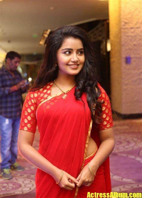 tollywood actress anupama stills  red saree actress album