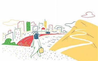 Travel Illustrations Expresso Viagens Illustrator Launch Website