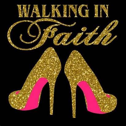 Svg Faith Walking Heels Walk Shirts Rhinestone