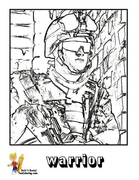mighty military coloring page   army air navy rifles flags